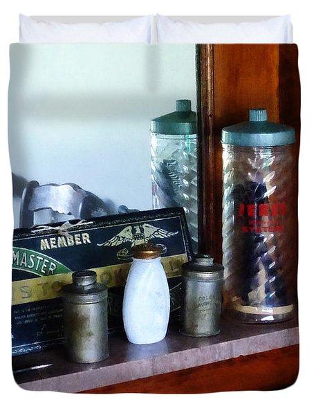 Barber - Barber Supplies Duvet Cover by Susan Savad