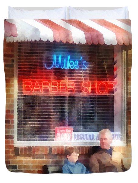 Barber - Neighborhood Barber Shop Duvet Cover