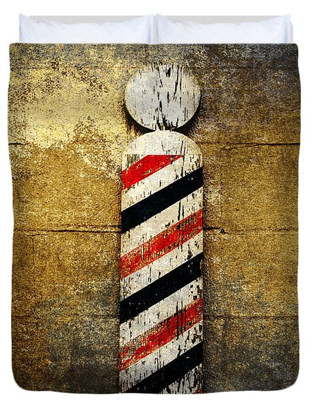 Barber Pole Duvet Cover by Andee Design