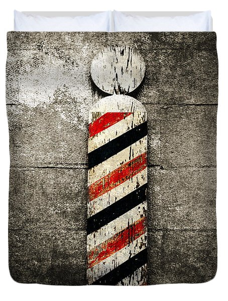 Barber Pole Selective Color Duvet Cover