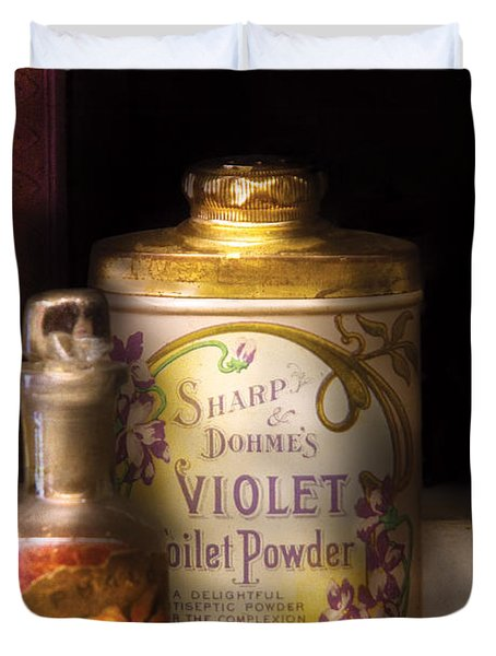 Barber -  Sharp And Dohmes Violet Toilet Powder  Duvet Cover by Mike Savad