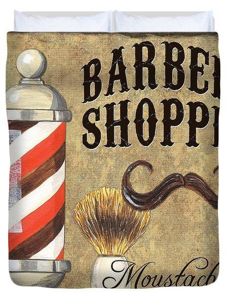 Barber Shoppe 1 Duvet Cover by Debbie DeWitt