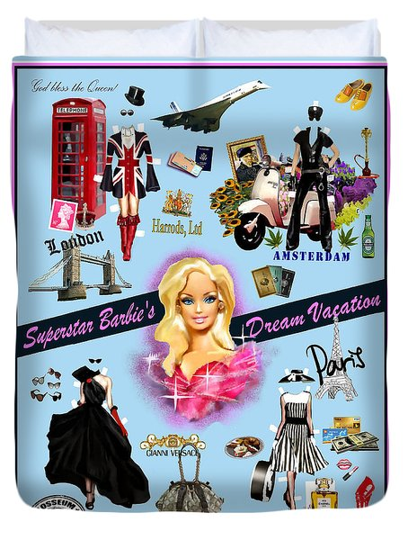 Barbie's Superstar Dream Vacation Duvet Cover