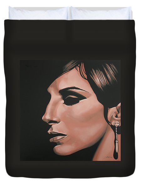 Barbra Streisand Duvet Cover by Paul Meijering