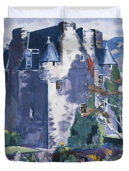 Barcaldine Castle Duvet Cover by Francis Campbell Boileau Cadell