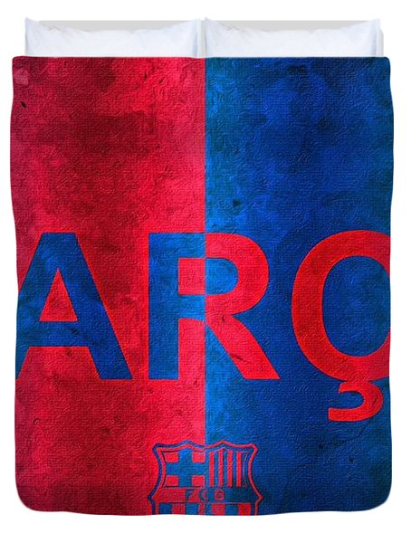 Barcelona Football Club Poster Duvet Cover