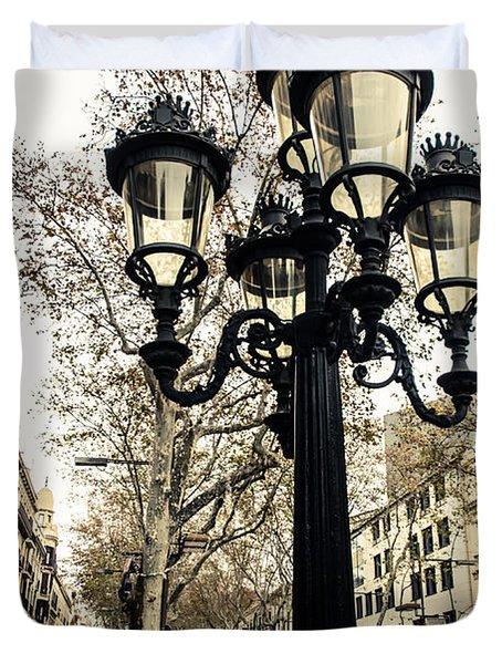 Barcelona - La Rambla Duvet Cover