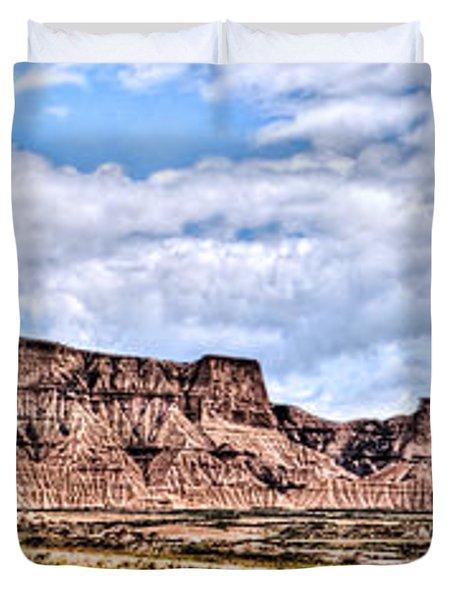 Bardenas Desert Panorama 1 Duvet Cover