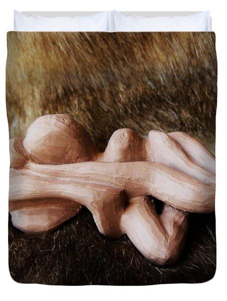 Bare Skinned Duvet Cover by Barbara St Jean