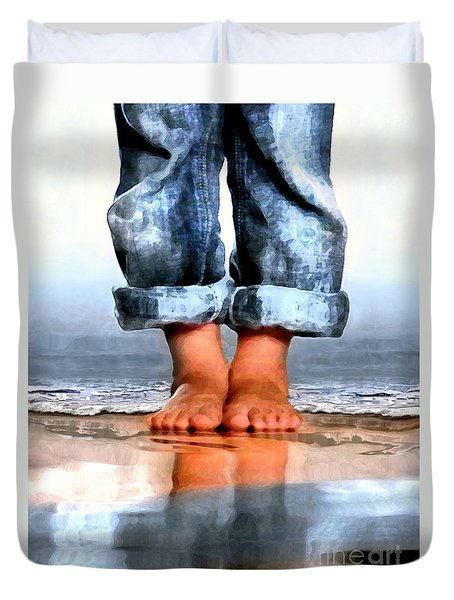 Barefoot Boy   Duvet Cover