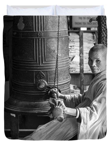 Barefoot Buddhist Monk Duvet Cover
