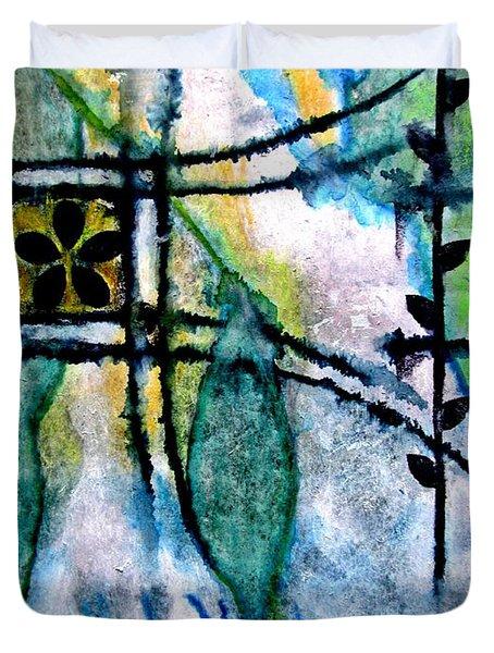 Barefoot In The Garden Duvet Cover