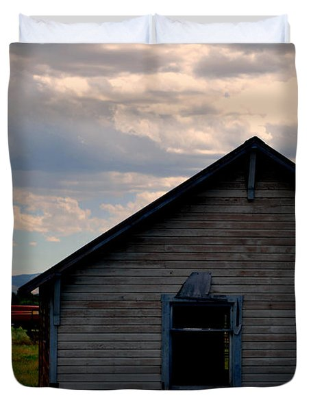Barn And Tractor Duvet Cover by Matt Harang
