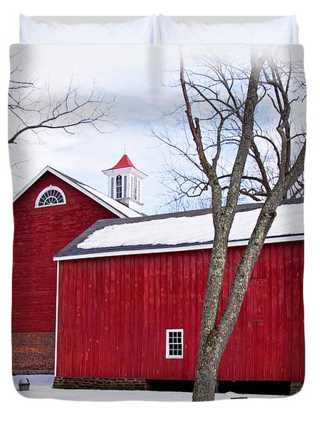 Barn At Tinicum Park Duvet Cover