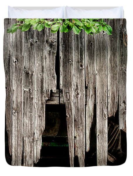 Barn Boards - Rustic Decor Duvet Cover by Gary Heller