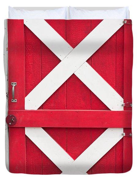 Duvet Cover featuring the photograph Barn Door by Gunter Nezhoda