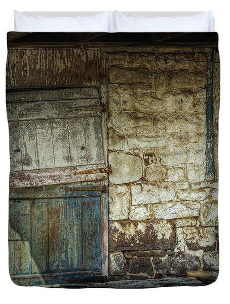 Barn Door Duvet Cover by Joan Carroll