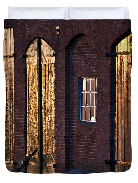Barn Door Lighting Duvet Cover by Heiko Koehrer-Wagner