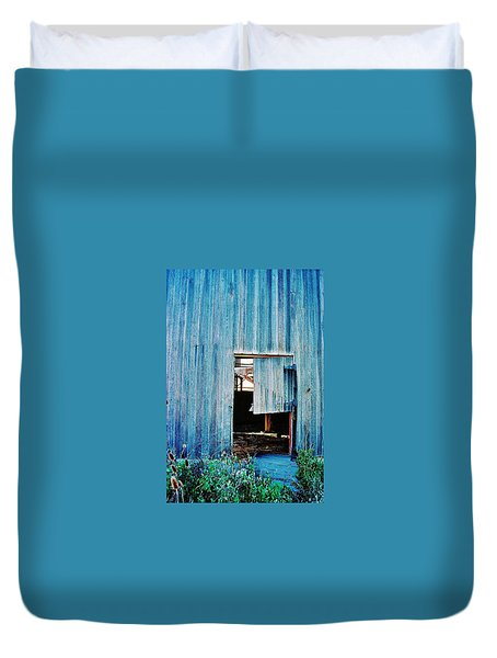 Duvet Cover featuring the photograph Barn Door... Monroe Co. Michigan by Daniel Thompson