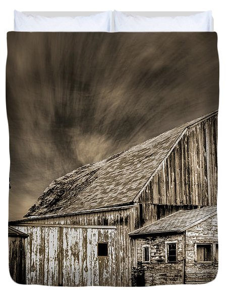 Barn On Hwy 66 Duvet Cover