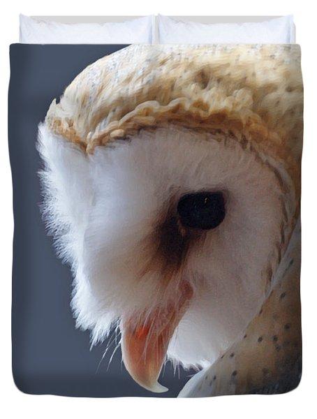 Barn Owl Dry Brushed Duvet Cover by Ernie Echols