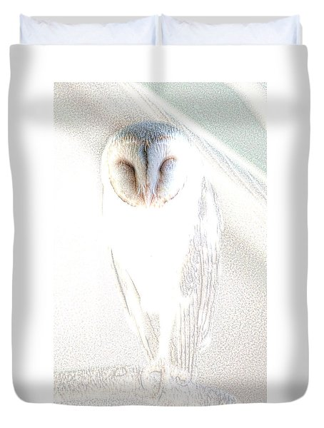 Duvet Cover featuring the photograph Barn Owl by Holly Kempe