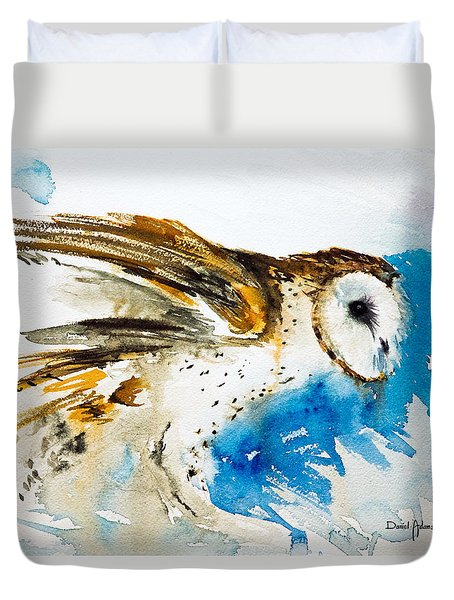 Da145 Barn Owl Ruffled Daniel Adams Duvet Cover