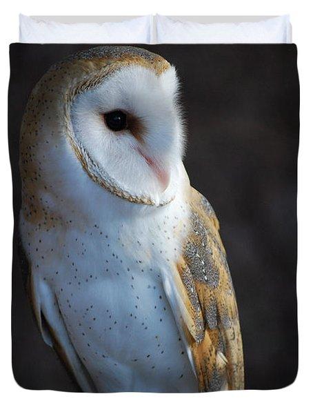 Duvet Cover featuring the photograph Barn Owl by Sharon Elliott