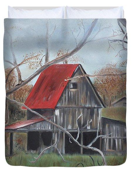 Barn - Red Roof - Autumn Duvet Cover