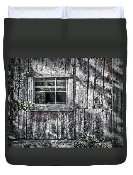Barn Window Duvet Cover by Joan Carroll