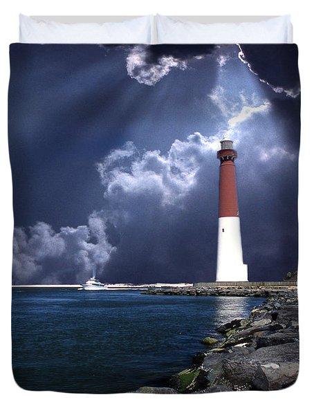 Barnegat Inlet Lighthouse Nj Duvet Cover