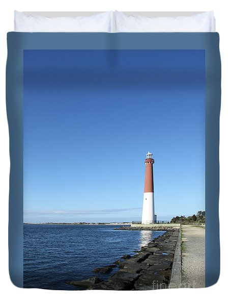 Barnegat Light - New Jersey Duvet Cover by Christiane Schulze Art And Photography