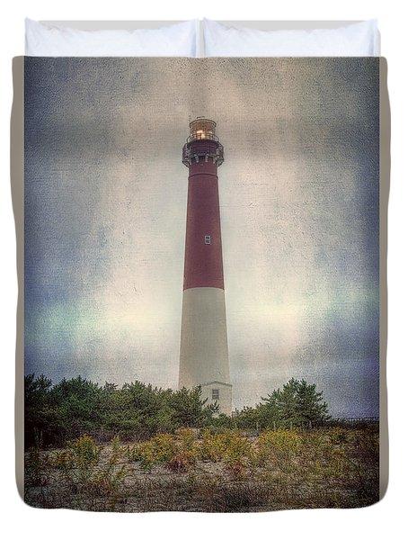 Barnegat Lighthouse Dawn Duvet Cover by Joan Carroll