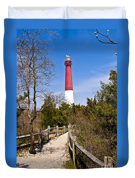 Barnegat Lighthouse II Duvet Cover by Anthony Sacco
