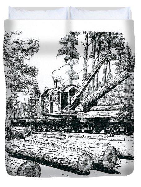 Barnhart Log Loader Duvet Cover
