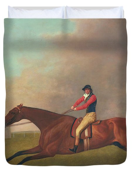 Baronet With Sam Chifney Up Duvet Cover by George Stubbs