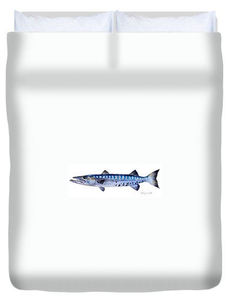 Barracuda Duvet Cover by Carey Chen