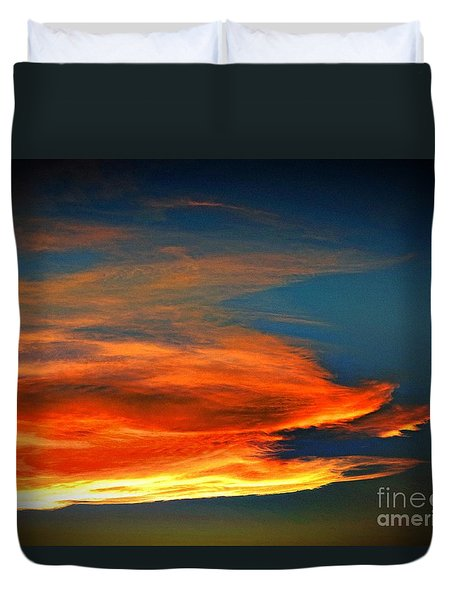 Barracuda Cloud Duvet Cover by Phyllis Kaltenbach