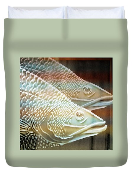 Duvet Cover featuring the photograph Barramundi by Holly Kempe
