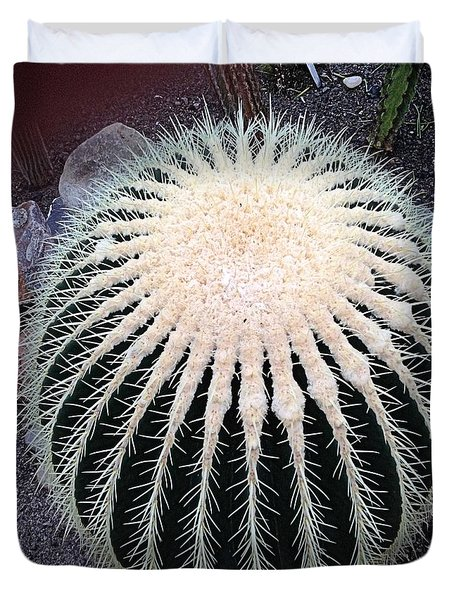 Duvet Cover featuring the photograph Barrel Cactus by Luther Fine Art