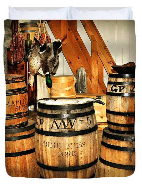 Barrels  Duvet Cover by Marty Koch