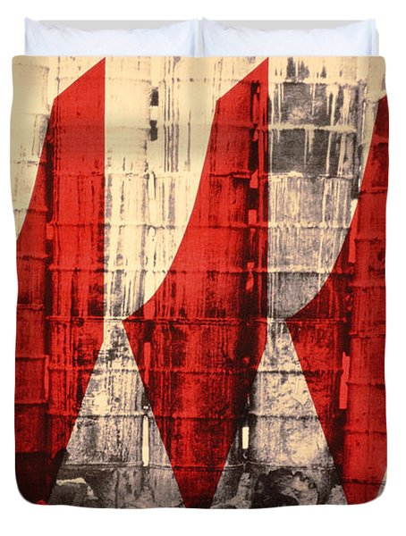 Barriers To Statehood, 1992 Screen Print On Canvas Duvet Cover