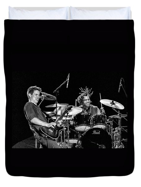 Barry Alexander Drumming For Johnny Lang Duvet Cover