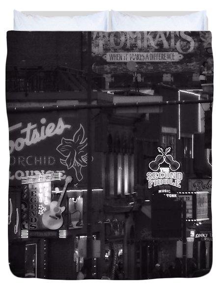 Bars On Broadway Nashville Duvet Cover