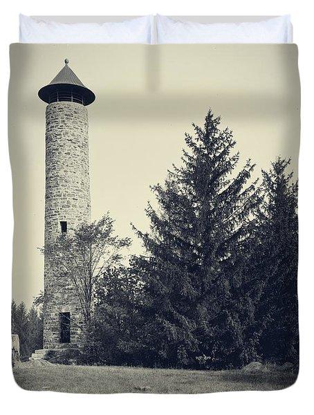 Bartlett Tower Dartmouth College Hanover Nh Duvet Cover by Edward Fielding