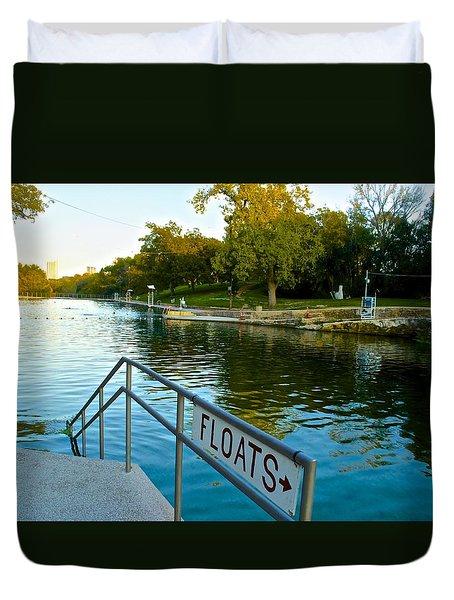 Barton Springs Pool In Austin Texas Duvet Cover