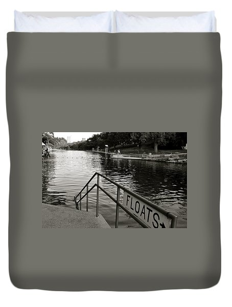 Barton Springs Pool In Austin Duvet Cover