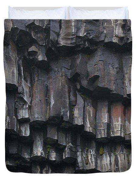 basaltic columns of Svartifoss Iceland Duvet Cover
