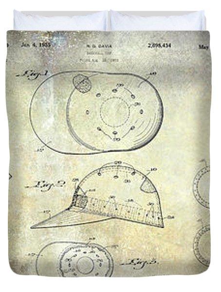 Baseball Patent Panoramic Duvet Cover