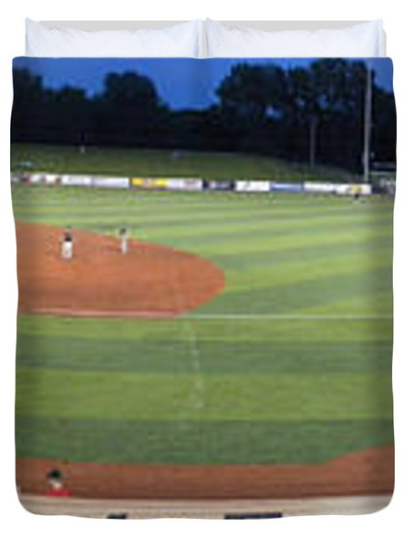 Baseball America's Past Time Duvet Cover by Thomas Woolworth
